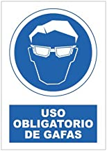 S21 Señalización SOR1045.G Señal uso obligatorio de gafas, Multicolor
