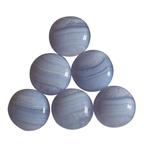 17 mm runde Form, natürliches blaues Spitzen-Achat, Cabochon, Kristalle für Heilung, Mineralstein