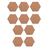 約10個 コルクシート フォトウォール ボード コルクボード 六角形