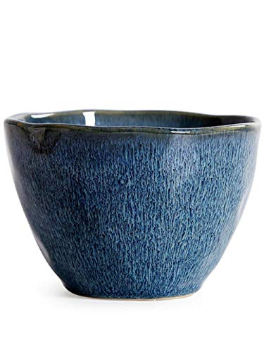 XUSHEN-HU Pecas de Color Azul Oscuro Europeos Creativa tazón Personalidad Irregular Cuenco de cerámica Cocina