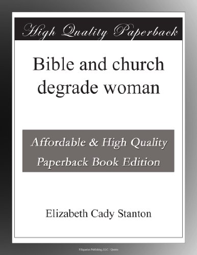 Bible and church degrade woman