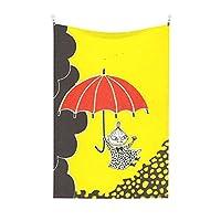 ムーミン Moomins 壁掛けタペストリーファッション壁掛けインテリア室内寮現代子供誕生日パーティー記念日個性の贈り物部屋の装飾多機能かわいい大サイズ多機能インテリア装飾布ピクニックマット部屋寝室リビングルーム窓のカーテン工具セットポスター付き 100x150cm