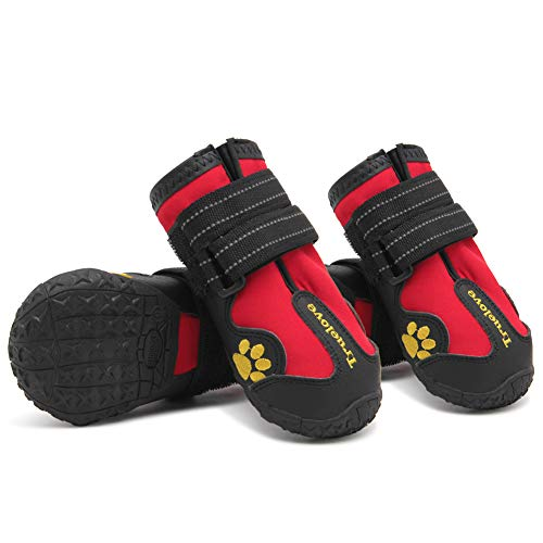 MOKCCI Truelove Dog Boots Waterproof Dog Shoes with Best Reflective Straps for Small Medium Large...