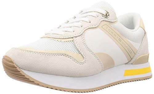 Tommy Hilfiger Damen Feminine Active City Sneaker, Weiß (White Ybs), 37 EU