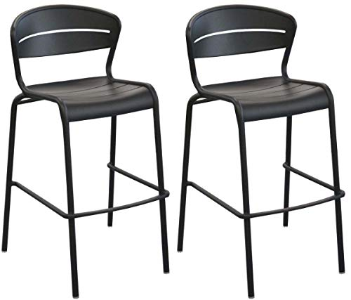 Proloisirs Chaises de Bar terrasse en Aluminium Haora (Lot de 2)