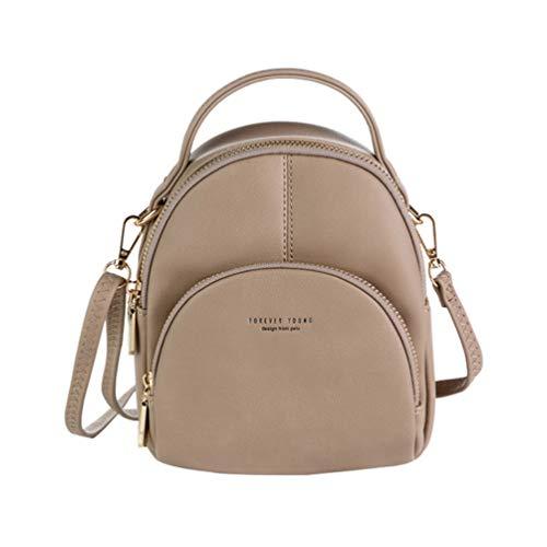 AIFILLE vrouwen lederen rugzak portemonnee voor vrouwen handtas dames Crossbody tas, Toten, mini backpack wallet for women, Grijs