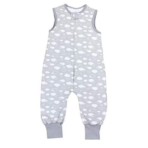 TupTam Baby Unisex Winter Schlafsack mit Beinen, Farbe: Wolken Grau, Größe: 92-98