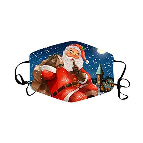 Modaworld Christmas Face_Masks Unsiex Reusable Washable Face Protection Outdoor Dust Face Bandanas for Women Men