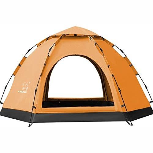 YITING Zelte for Camping wasserdicht, 5-8 Personen großen Raum vollautomatische Doppelschicht-Außenzelt, anti-tear PU-beschichtetes Oxford Tuches, wasserdicht doppelseitig atmungsaktiv, Travel Strandz