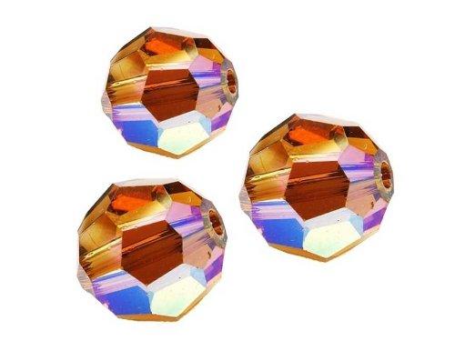 Creative-Beads Swarovski Perlen rund, 6mm, 10 Stück, light smoke topaz