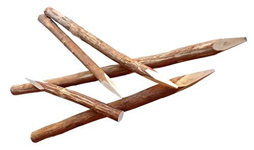 Zaunpfosten Haselnuss 180 cm - Rundholz Pfosten für Staketenzäune - Kastanien Staketen Zaun Pfahl Natur