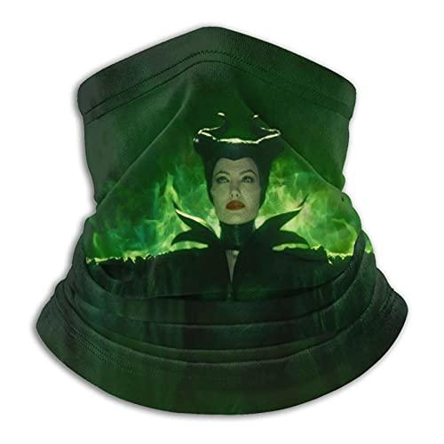 LvShen Maleficent Mistress Protector de cuello de microfibra malvada tiene las características de viento y calor y lleno de elasticidad bufanda facial ajustable para hombres y mujeres