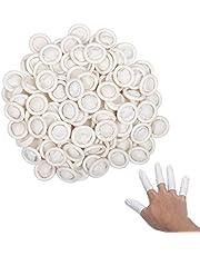 Protegetor dedo látex,ZERHOK,300pcs,manga dedo desechable, Latex Finger Cot para pegar el pegamento,planchar la ropa o hacer artesanía.