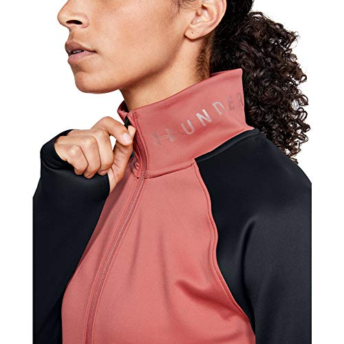 Under Armour Coldgear Armour 1/2 Zip Color Block T-Shirt Manches Longues Femme Rose FR : XL (Taille Fabricant : XL)