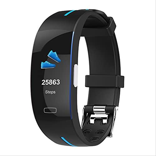 Pulsera Inteligente, Monitor De Frecuencia Cardíaca Impermeable De Reloj Inteligente De Movimiento De Pantalla De 0,96 Pulgadas Azul y Negro Azul