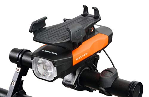 Redcomets Bicycle Light Comes with a USB Charger an Adjustable Bicycle Phone Mount a Bicycle Headlight with a Speaker and a Builtin 4000mA Mobile Phone Power