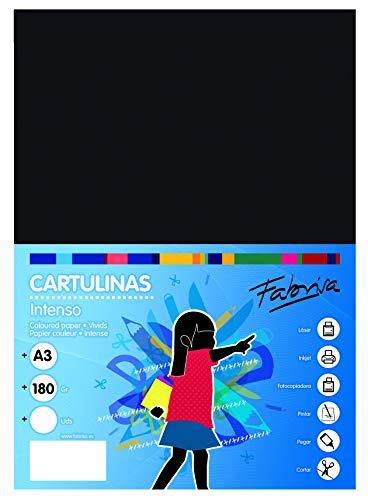 Cartulinas A4 Negras Marca OFITURIA
