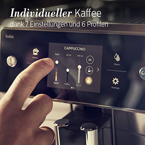 Saeco SM7683/10 Xelsis Kaffeevollautomat 15 Kaffeespezialitäten (Touchscreen, 6 Benutzerprofile), 18/8, Edelstahl/Schwarz - 3