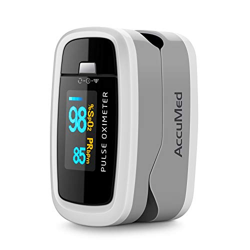 4138O2XPYmL - AccuMed CMS-50D1 Fingertip Pulse Oximeter