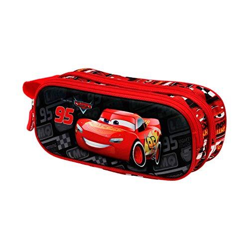 KARACTERMANIA Cars 3 McQueen-Astuccio Portatutto 3D Doppio, multicolore
