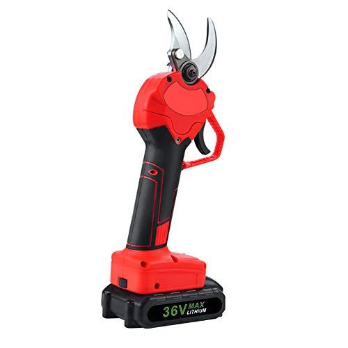 PAKASEPT Elektrische Astschere 36V Akku-Rebschere 2 Batterie, 30mm Akku-Astschere, Elektrische Gartenschere, Weichgummi-Griff, 8-10 Arbeitsstunden, ergonomisches Design, Schnellschneidende