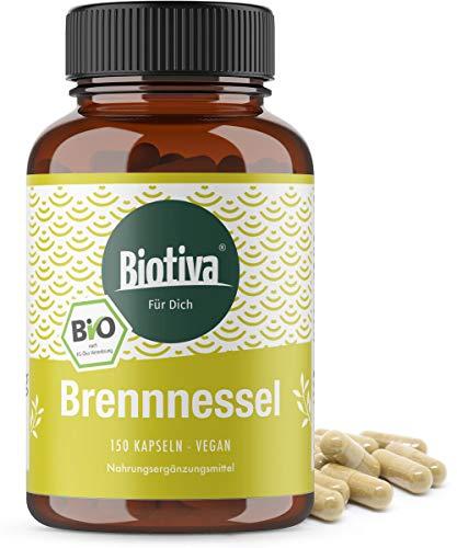 Brennnessel Bio Kapseln 150 Stück - 450mg je Kapsel - Brennesselblatt Pulver - Urticae folium - Höchste Reinheit - Abgefüllt und kontrolliert in Deutschland (DE-ÖKO-005) - Vegan