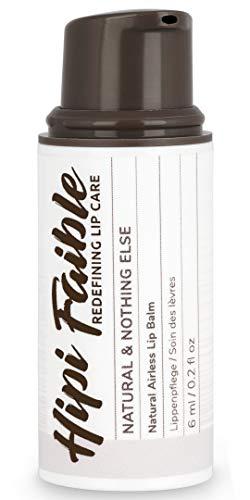 Hipi Faible - Naturkosmetik Lippenpflege im Pump-Spender - NATURAL & NOTHING ELSE - 100 % natürlich - 6 ml