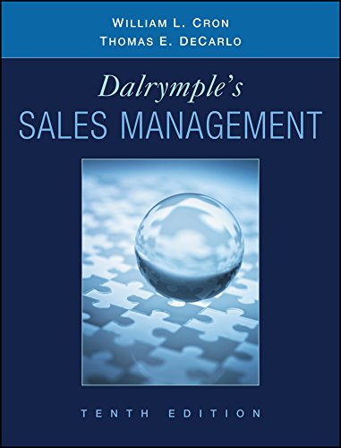 Hot Sale Dalrymple's Sales Management: Concepts and Cases