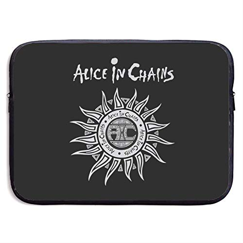 Hdadwy Alice in Chains Laptop Sleeve Bag Notebook Computer, Water Repellent Polyester Protective Case Cover Theme Design Laptop 15 inch