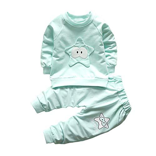Logobeing Ropa de Bebé Niño Niña Animales 2 Piezas Camiseta de Manga Larga + Pantalones Conjunto de Ropa 2018 Ofertas (6-12Mes, Verde)