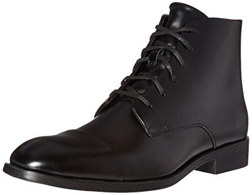 Calvin Klein Men's Darsey Box Boot, Black, 9.5 M US