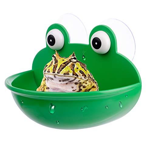 Rederdjskj Amphibian Aquatic Frog Habitat, Cute Fish Tank Decoration, Suitable for Frog/Toad/Gecko/Tadpole/Turtle and Other Small Aquatic Animals (1PCS)