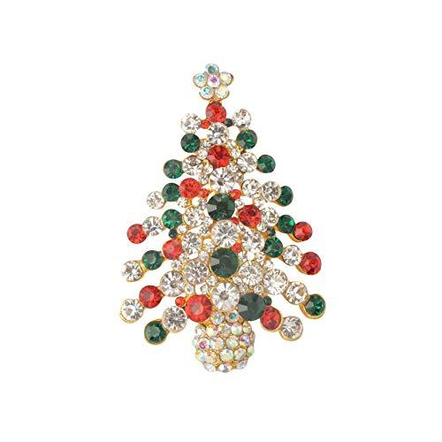 Diamond Encontrado Navidad Broche Pins Set Chapado en Oro de Arte Manualidades Navidad patrón de Diamantes de Imitacion de Cristal Broche de joyería Regalos para Mujeres Chicas