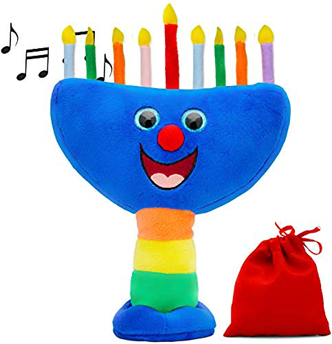 Hanukkah Plush Menorah, Musical Menorah Plays 2 Classic Hanukkah Melodies