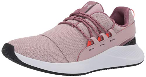Under Armour womens Charged Breathe Lace Sneaker, Dash Pink (602 French Gray, 8.5 US