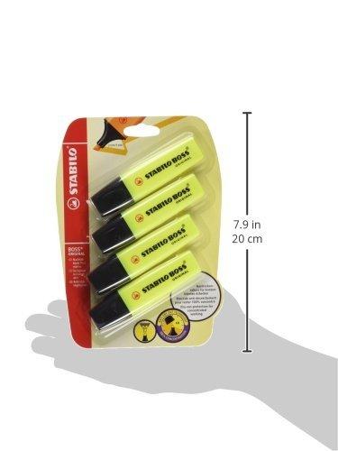 Stabilo B-14892 – Subrayador, amarillo (Pack de 4)