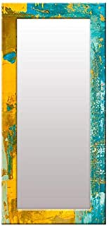 999Store Printed Blue Yellow Abstract Pattern Mirror