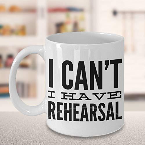 DKISEE I Cant I Have Rehearsal mugg rolig kaffekopp skådespelare gåvor för män kvinnor present till tespianer rolig skådespelare mugg teater present teater regissör 325 ml