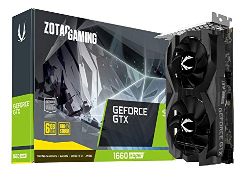 ZOTAC Gaming GeForce GTX 1660 Super 6GB GDDR6 192-bit Gaming Graphics Card, Super Compact, Zt-T16620F-10L