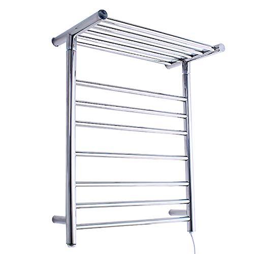 OJINYU Wandhalterung Handtuchhalter, eingebauter Thermostat, Bad Edelstahl Temperatur Handtuch Trockner, Badezimmer Regale