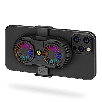 SakuraClub Semi-Conductor Phone Cooler Cellphone Radiator with Dual Cooling Chip Cooling Case for iOS/Android Phones Fit for Mobile Gaming Video Streaming Car Driving