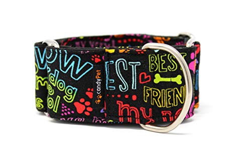 candyPet® Martingale Hundehalsband, Modell Best Friend, M
