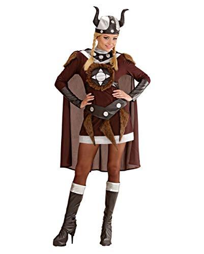 Horror-Shop Wikinger Walküre Viktoria Kostüm für Halloween und Karneval L