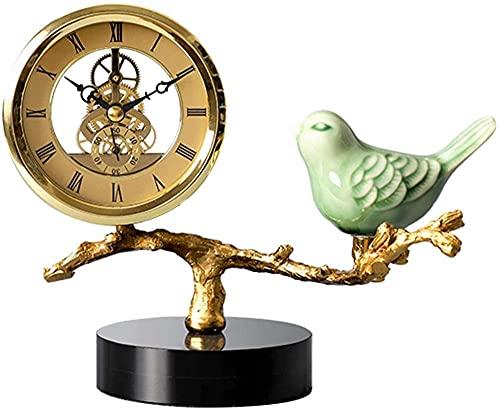 Scultura,El Reloj De Mesa / Reloj De Sobremesa Tiene Una Forma Bonita, Creativo Y Elegante, Silencioso con Base De Vidrio Y Esfera De Reloj Hueca, Sala De Estar, Escritorio, Decoración del Hogar