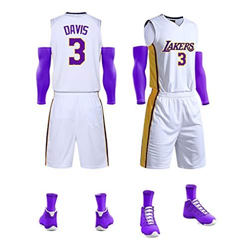 GJDU Herren Jersey Shorts - Brother Brow # 3 Spiel Uniform Basketball Anzug Herren Basketball Jersey Set D-M