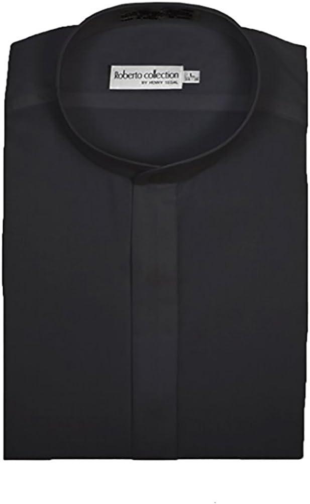 Henry Segal Men's Banded Collar Dress Shirt