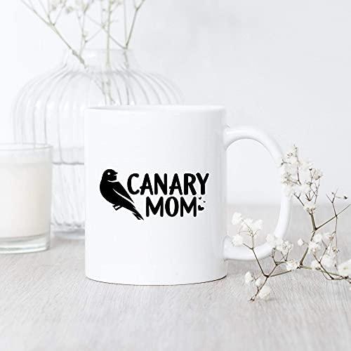 Mamá canaria/Taza/Pájaro canario/Amante de mascotas canario/Regalo de amante canario/Mamá canaria/Regalo de dueño canario/Taza canaria linda