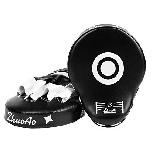 YOUSHANG Soltero Boxeo Entrenamiento | Manoplas Boxeo Blanco y Negro | Las Almohadillas de Ataque Son duraderas | Patas de Oso para Boxeo | Entrenamiento de Muay Thai Taekwondo Sanda Fight
