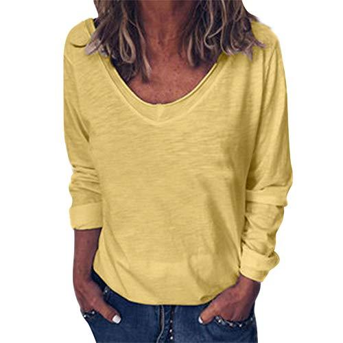 Herbst sexy sexy V-Ausschnitt langärmelige Frauen T-Shirt lose Top Bottoming Shirt