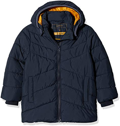 NAME IT Baby-Jungen NMMMIL Puffer Jacket Camp Jacke, Blau (Sky Captain Sky Captain), 98